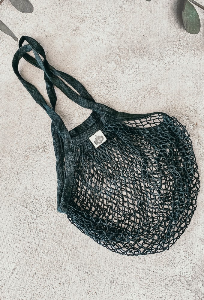 Black String Shopping Tote
