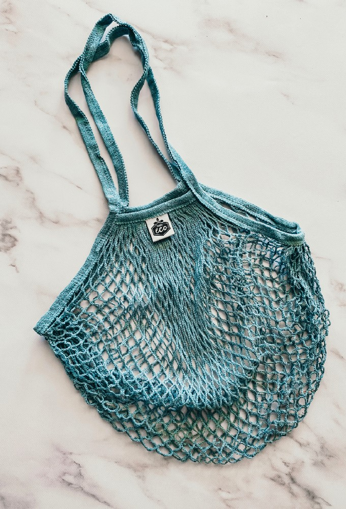 Moody Blue String Shopping Tote