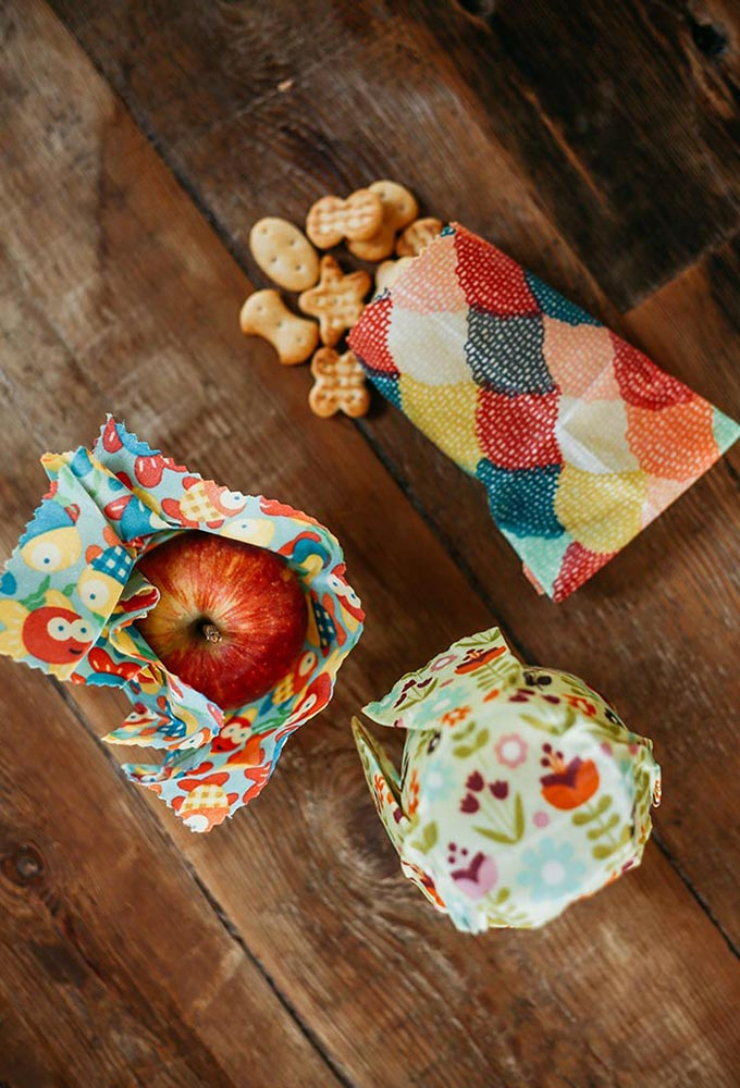 Kids Reusable Beeswax Wraps