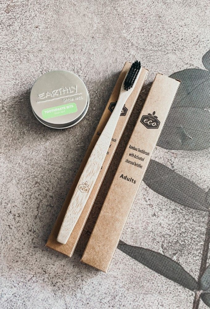 Bamboo Toothbrush & Toothpaste Bits Combo